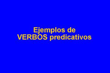 verbos predicativos